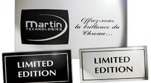 Etiquette metal - Martin Technologies