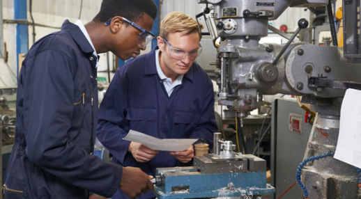 Inspection d'une machine industrielle