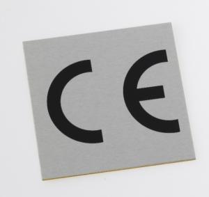Gravure plaque métal CE
