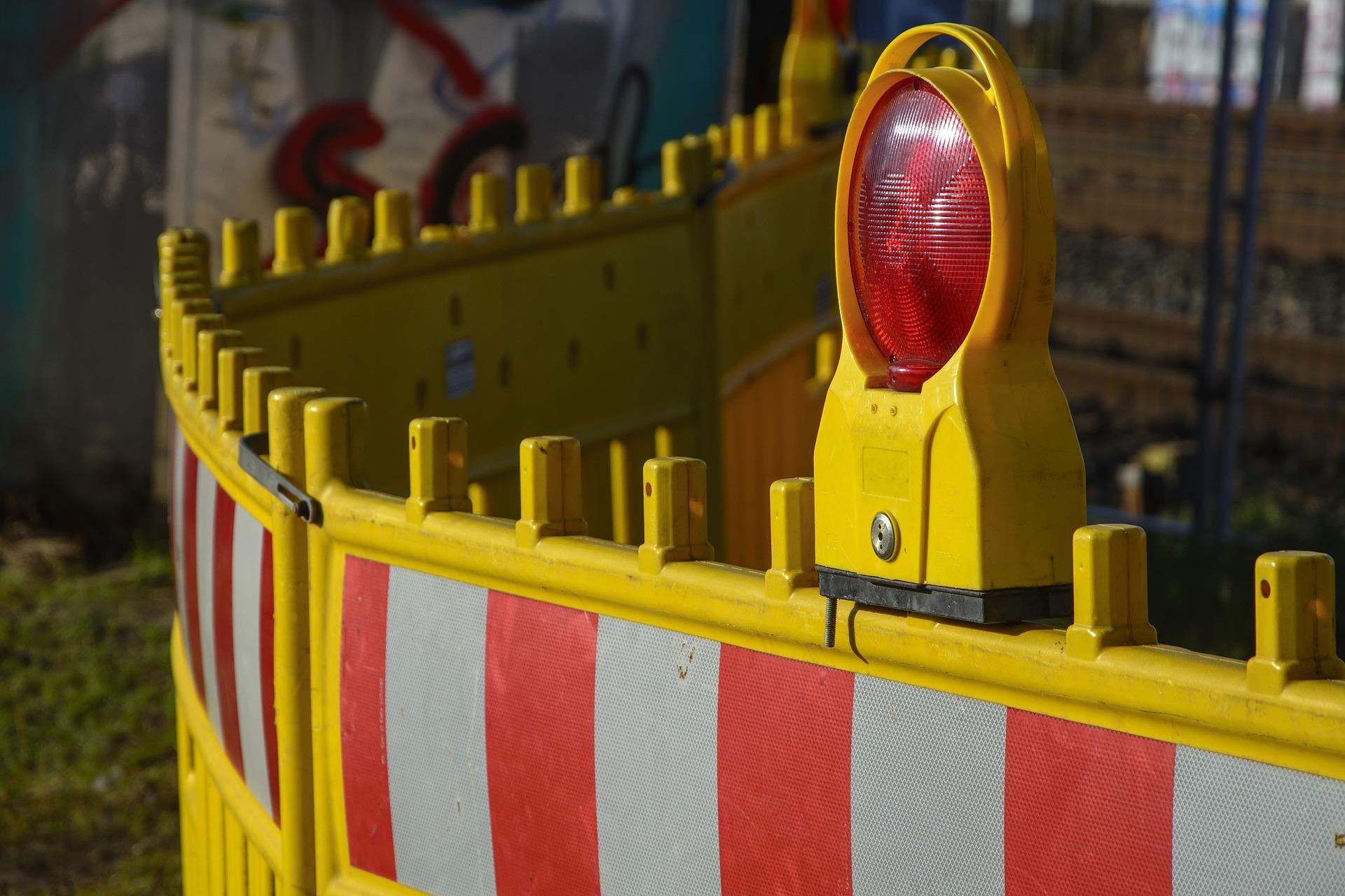 Barrière de sécurité d'un chantier